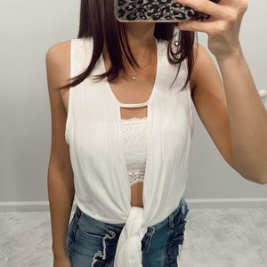 Skylar + Madison White Tie Top